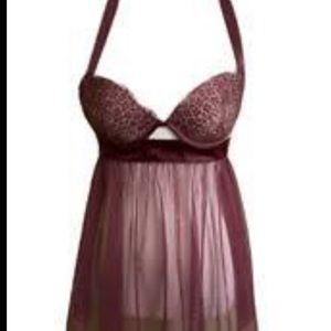 Victoria's Secret Super Sexy Purple Babydoll With Bra  RN 54867 Size: 36D / D80